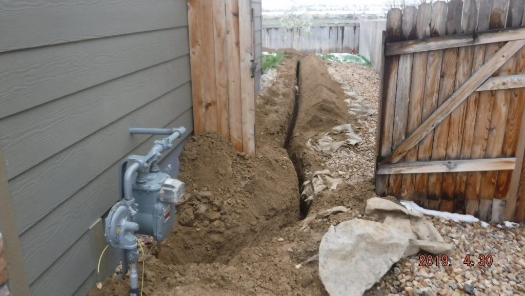 Gas Meter trench correct side