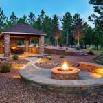 Landscaping and Gas Fire Pit